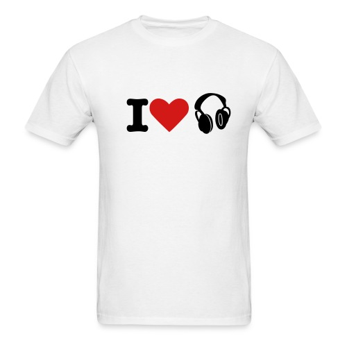 I LUV MUSIC - Men's T-Shirt