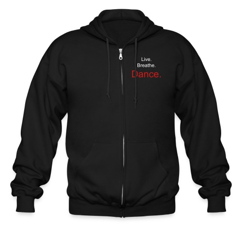 Men's LBD Zipper Hoodies - Black - Men's Zip Hoodie