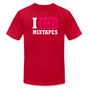 I Love Mixtapes - Men's T-Shirt by American Apparel