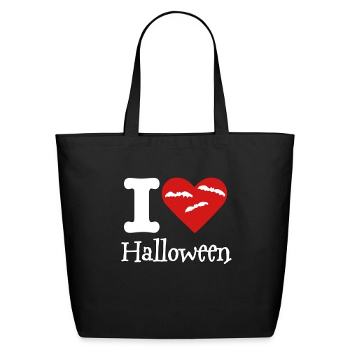 I love halloween - Candy Tote Bag - Eco-Friendly Cotton Tote
