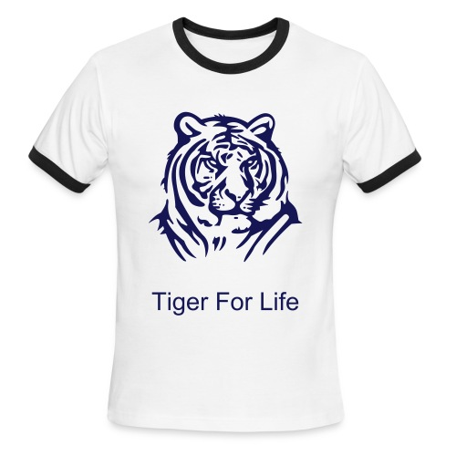 Tiger For Life Tee - Men's Ringer T-Shirt