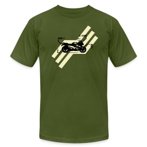 Retro Crotch Rocket T-shirt - Men's T-Shirt by American Apparel