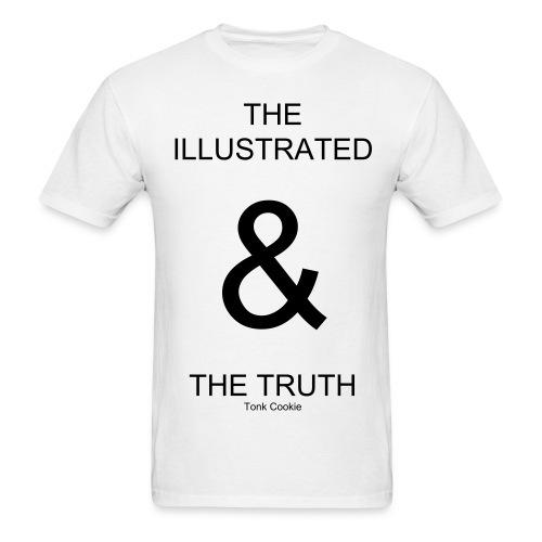 Illustrated & truth white - Men's T-Shirt