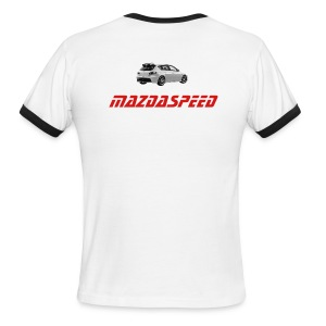 MS3 white/red - Men's Ringer T-Shirt