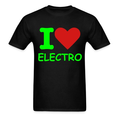 i love electro - Men's T-Shirt