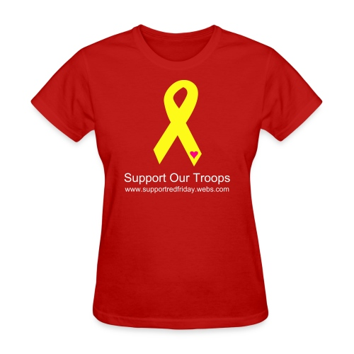 Support Our Troops Ribbon - Women's T-Shirt