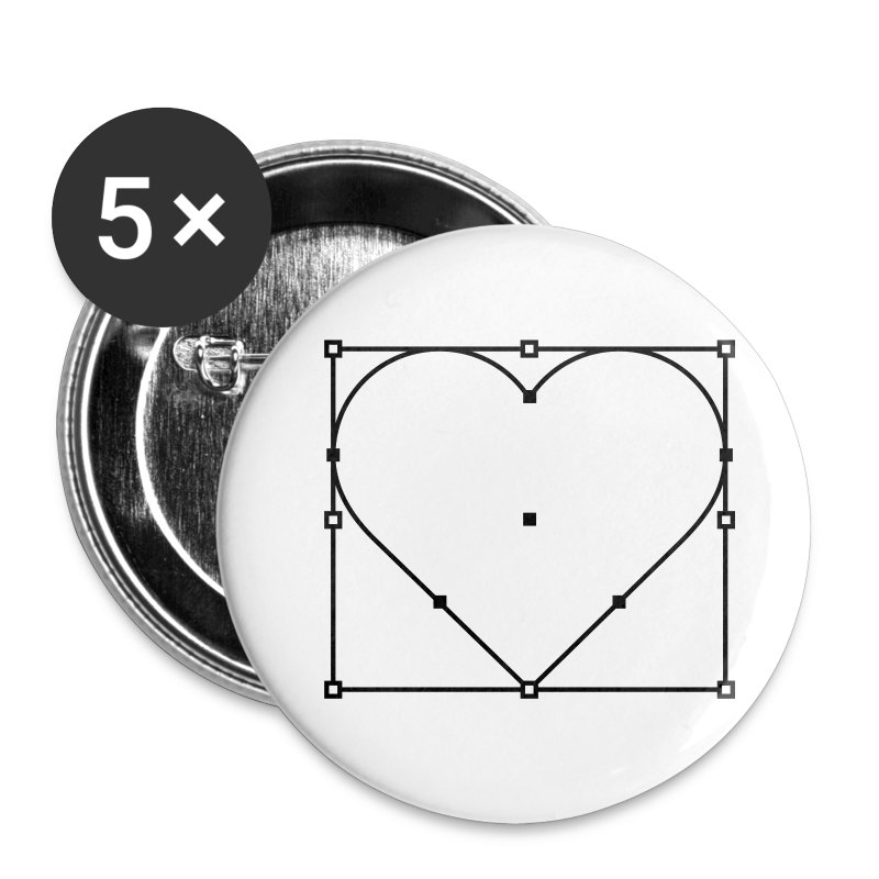 Vector Love - Large Buttons