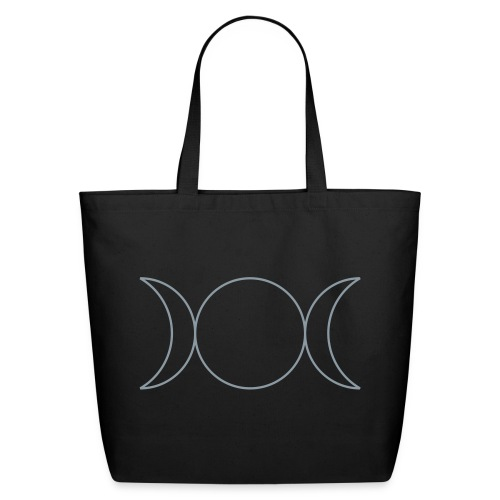 Wicca Triple Goddess Blessed Be Magic Tote Purse for Pagans - Eco-Friendly Cotton Tote