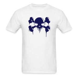 Bleeding Cross Bones - Men's Lightweight cotton T-Shirt - Men's T-Shirt