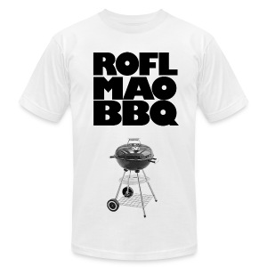 ROFLMAOBBQ - Men's T-Shirt by American Apparel