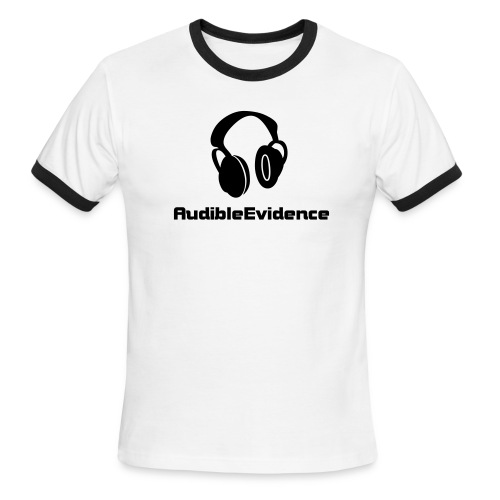 Mens Headphone Ringer T - Light Blue - Men's Ringer T-Shirt