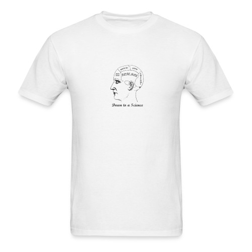 Phrenology of Science Cafes - Men's T-Shirt