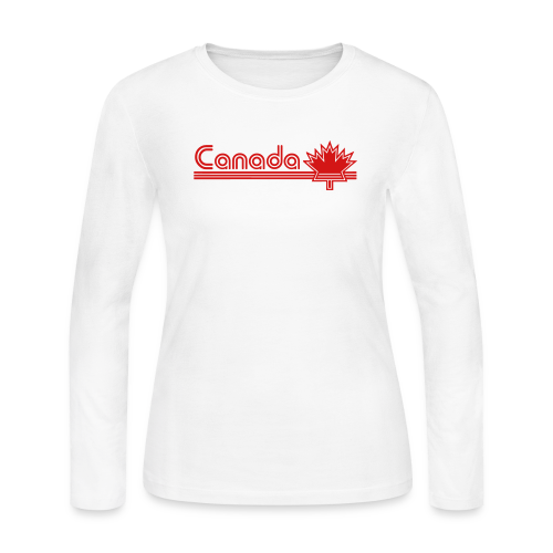 Retro Canada - Women's Long Sleeve Jersey T-Shirt
