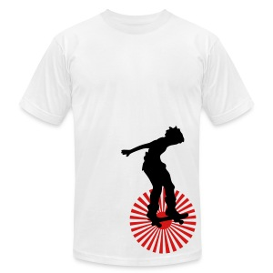 Retro Skater Land American Apparel Tee - Men's T-Shirt by American Apparel