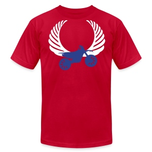 Vintage Dirt Bike Wings Designer Tee - Men's T-Shirt by American Apparel