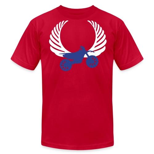 Vintage Dirt Bike Wings Designer Tee - Men's Fine Jersey T-Shirt