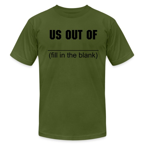 imperialism olive - Men's Fine Jersey T-Shirt