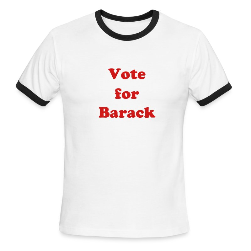 Vote for Barack T-Shirt!  - Men's Ringer T-Shirt