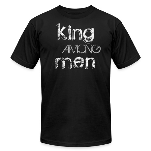 King Among Men; Black - Men's Fine Jersey T-Shirt