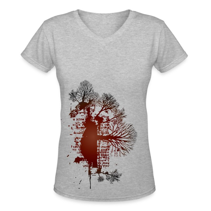 Trees Red Vintage Design T Shirt Spreadshirt