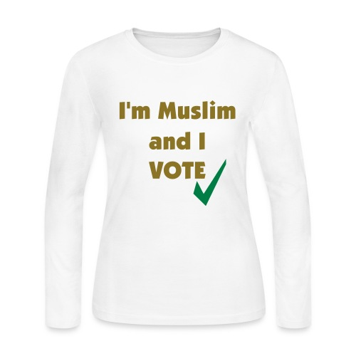 I'm Muslim and I Vote - Women's Long Sleeve Jersey T-Shirt