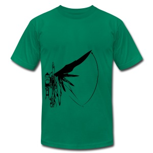Funky Robot Wing T-shirt Design - Men's T-Shirt by American Apparel