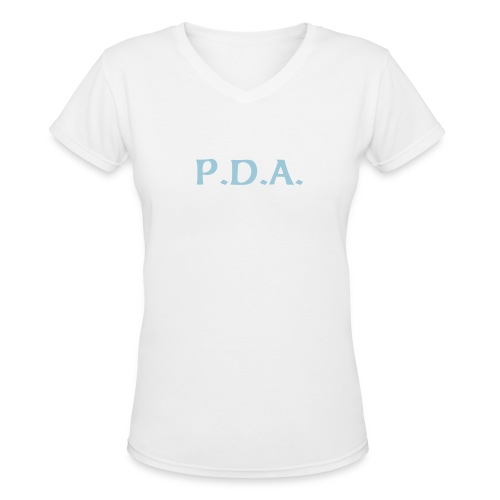 P.D.A. - Women's V-Neck T-Shirt