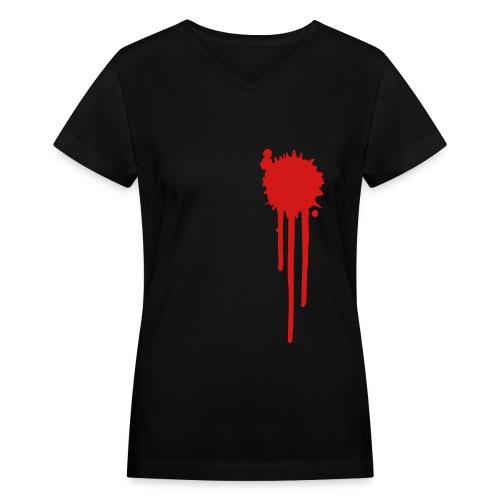 Bleeding - Women's V-Neck T-Shirt