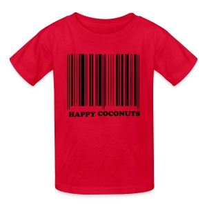 Barcode tshirt - red - Kids' T-Shirt