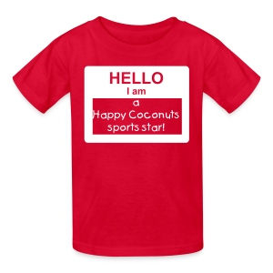 Hello, I Am A Happy Coconut! - red/white - Kids' T-Shirt