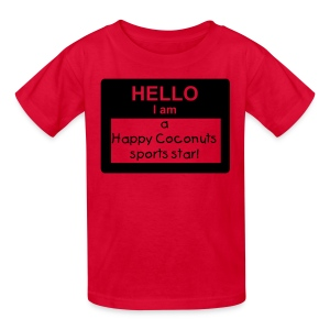 Hello, I Am A Happy Coconuts Sports Star - red/black - Kids' T-Shirt