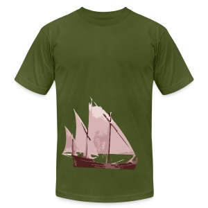 Pieces Of Ship Indie Designer T-shirt - Men's T-Shirt by American Apparel