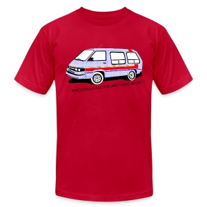 Pink Retro Toyola Mini Van Tee - Men's T-Shirt by American Apparel