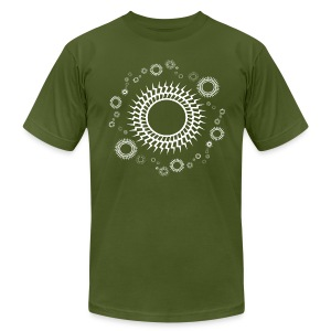 Orbiting Suns 3 Retro Designer T-shirt - Men's T-Shirt by American Apparel