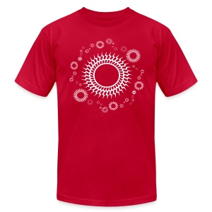 Sweet Orbiting Suns 2 Designer T-shirt - Men's T-Shirt by American Apparel
