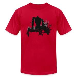 Mens Robot in The Woods T-shirt Design - Men's Fine Jersey T-Shirt