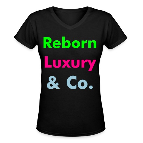 Reborn Luxury & Company - Women's V-Neck T-Shirt