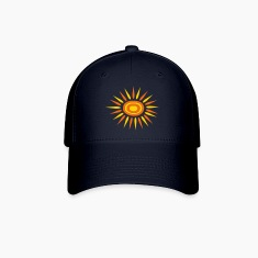 Navy Big Sun With Alternate-Color Rays and Rings Cap