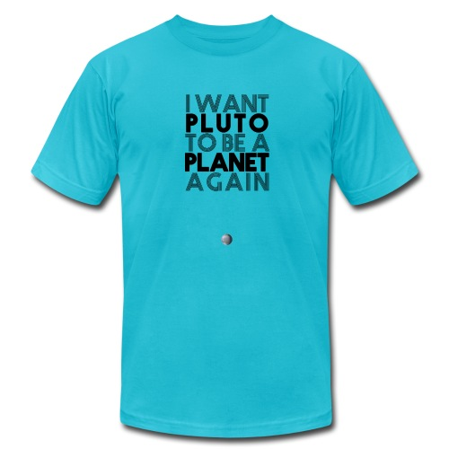 I Want Pluto to be a Planet Again Rocketboom Tee - Men's Fine Jersey T-Shirt
