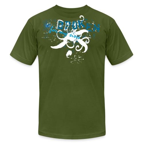 Broken For My Sins (Artistic Christian Series) - Men's Fine Jersey T-Shirt
