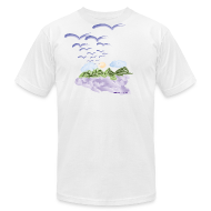 T-Shirts ~ Men's T-Shirt by American Apparel ~ Birds of The Air (Artistic Christian Series)