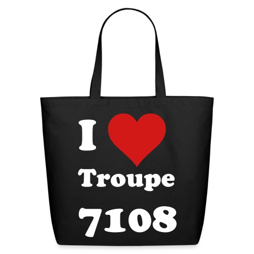 I Heart Troupe 7109 Tote - Eco-Friendly Cotton Tote