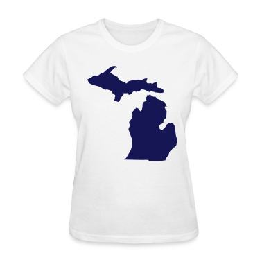 White State of Michigan solid Women