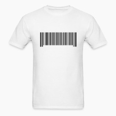 White Barcode Men