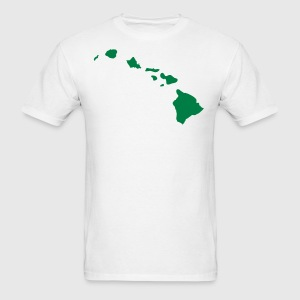 White State of Hawaii solid Men - Men's T-Shirt