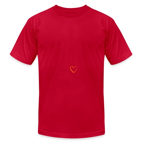 Men's Lemon Heart Logo AA T Shirt - Men's Fine Jersey T-Shirt