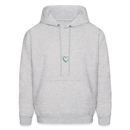 Men's Ash Heart Logo Longsleeve Hoodie - Men's Hoodie