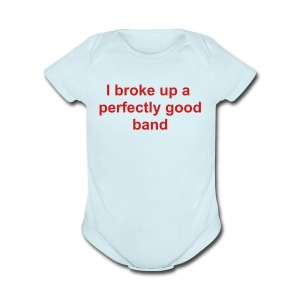 Broke up band - Short Sleeve Baby Bodysuit