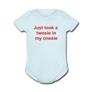 twosie in one size - Short Sleeve Baby Bodysuit
