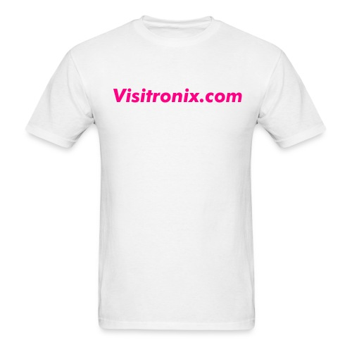 Visitronix Pink Lettering on White T-Shirt - Men's T-Shirt